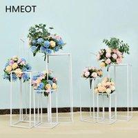 Decorative Flowers & Wreaths Wrought Iron Geometry Road Guide Flower Stand Wedding Bouquet Shelf Props Table Centerpieces Artificial Ball De