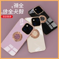 Suitable for Apple iPhone 13 case 13mini   Pro Max plated ring car magnetic suction protective cover new