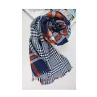 Fashion Women Whited Winter Warm Sciarpa Sciarpa Plaid Sciarpa Scialle Femmina Foulard