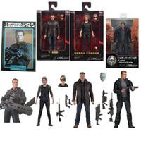 Vier stijl 18 cm Nieuwe Neca Terminator T-800 Dark Fate Sarah Connor Action Figure Collectible Model Toy Gift