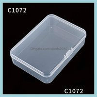 Boxes Bins Housekee Organization Home & Gardentransparent Pp Rectangar Packaging Plastic Box 105X75X25Mm Small Objects Storage Organizer Car