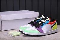 Jumpman Low Tagli uova di Pasqua Scarpe da basket Donne Uomo Allenatori di moda Luxurys Designer Sneakers Full Size 36-46 con scatola