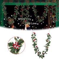 Моделирование виноградной лозы ротанга оливковое листовое растение рождественские красные фрукты длинные ротанга цветочная композиция цветочная композиция на свадебный декор