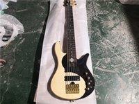 Envío gratis Yinyang Tai Ji 6 cuerdas Guitarra de bajo, tablero sólido de palisandro, Pieza trasera única, Puente de oro, botón de oro