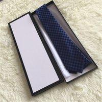 Laço dos homens de seda de alta qualidade 7.5cm Versão estreita gravata de lazer dos homens Business marca gravata versão estreita caixa de empacotamento original