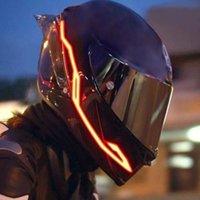 El Helm Leuchtstreifen Motorrad Dekorative Licht Nacht Reiten Warnung