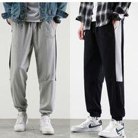 High Quality Mens sport pant Loose Solid Drawstring Elastic Waist Long Pants Trousers Casual Sport Pants