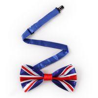 Parted Bow Tie Flag Pringting Usa British Bowtie Банкетный вечеринка Мужская воротник Аксессуары Галстук Выполните мужские Подарок
