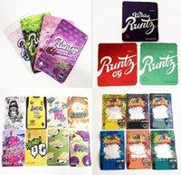 Edibles Packaging Runtz Gummies Bag Mylar Bages smell proof 500mg Ether Dank Runty White Pink Original Plastic Zipper Package 4 Colors