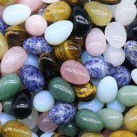 20mm * 30mm 달걀 모양의 돌 자연 치유 크리스탈 마스코트 마사지 액세서리 미네랄 보석 Reiki 홈 인테리어 도매