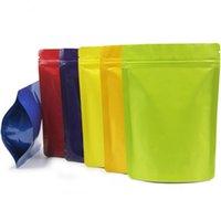 Подарочная обертка 13x18см 100 шт. Doypack und up Пакетная сумка на молнии reclosable Чистая миларная фольга для орехов кофейным порошковым покрытием