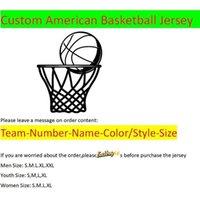Nuove Jerseys su misura American Basket Placanes Tutte le 32 Squadre Schermo personalizzato stampato su qualsiasi nome Numero XS-XXL Mix Order Uomo Donne Donne Kid Youth Jersey