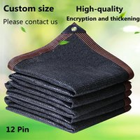 Shade UV Protection Black Sun Sailing Succulents Plants Cover House Shelters 90% Shading Garden Greenhouse Sunshade Net