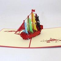 Grußkarten Segelschiff Modell 3D Stereo-Karte up Weihnachten Baby Geschenkurlaub Happy Year