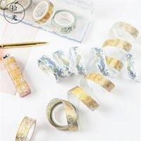 3 pezzi / lotto Cute Style Style Series Cool Breeze Reticolo Maschera Masking Washi nastro Natale decorativo nastro adesivo nastro scrapbooking cancelleria