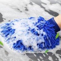 Lavagem de esponja de carro desfecho toalhas microfibra chenille macio anti-riscado toalha de limpeza de água sucção de água liquidante front back multiuso