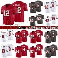 12 Tom Brady 87 Rob Gronkowski 14 Chris Godwin Jersey 13 Mike Evans 9 Joe Tryon Football 45 Devin White Herren Frauen Jugend Trikots