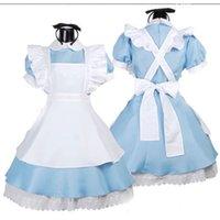 Japanischer Bestseller Fancy Girls Alice in Wonderland Fantasy Blue Light Tone Lolita Maid Outfit Maid Kostüm Maid Dress