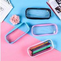 Custom Printed Multicolor Transparent Plastic Bag Pvc Zipper Pen Bagzqeo