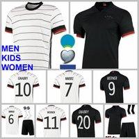 National Soccer Jersey 10 Serge Gnabry 9 Timo Werner 8 Toni Kroos 6 Joshua Kimmich Goretzka Muller Volland Euro Cup Camisa de Futebol Kits Homens Crianças Mulheres