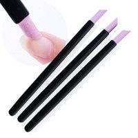 Nageldateien Black Quarz Scrubs Stone Nuticle Stick Stift Kunst Pusher Löffel Cut Maniküre Pflege Werkzeuge