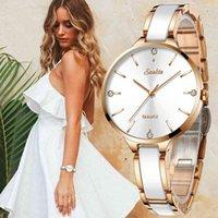 Sunkta Женщины Часы Керамические Часы Женщины Простые Алмазные Часы Повседневная Мода Часы Спорт Водонепроницаемый Наручные Часы Relogio Feminino 210310