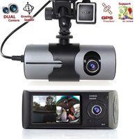 HD CAR DVR Двойной объектив GPS-камера Dash Cam Revide Video Video Recorder Авторегистратор G-Sensor DVRS X3000 R300