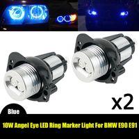 Car Headlights Marker Angel Eye LED Light Error-free For E90 E91 3 Series 12V DC 900LM Accessories