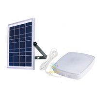 LED Street Light Radar Sensor 30W 60W Solar Ceiling Panel Lamp with Remote Control 5M Cable Split Install for Indoor Outdoor Lighting