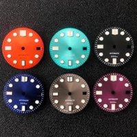 Repair Tools & Kits Watch Accessories 28.5mm Sun Pattern Calendar Dial Green Luminous Suitable For Japanese NH35 Movement