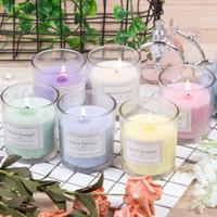 아로마 테라피 촛불 무연 향기로운 촛불 투명 유리 촛불 선물 상자 발렌타인 데이 선물 결혼식 장식 XD24526