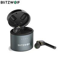 TWS Bluetooth Auricolare Blitzwolf BW-FYE8 True wireless -Compatible Dual Dynamic Driver Hands-free HiFi Earbuds IPX5 Manico lungo
