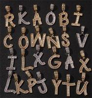 الهيب هوب مخصص الرغيف الفرنسي إلكتروني قلادة قلادة مزيج رسائل اسم قلادة 24 بوصة التنس القلائد زركونيا مجوهرات 65 T2