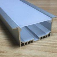 Freies Verschiffen LED-Kanal-Aluminium-Profil für LED-Streifenlicht, mattierter Diffusor, Endkappen, Oberflächenmontage, Baseboard, Deckenform,