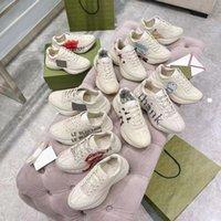 Brand Rhyton Casual Shoes Designers Men Femmes Sneakers Vintage Mesdames Luxurys Formateurs de coureurs Chaussures Plate-forme multicolore Sneaker 35-46