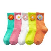 Calze per ragazze calze per bambini in cotone fiore primavera autunno autunno calzini per bambini vestiti bambino abbigliamento bambini 1-10Y B4000