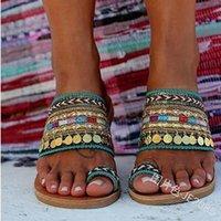 Slippers Women Artisanal Sandals Flip-Flops Handmade Greek Style Boho Flip Flop Streetwear Fashion Shoes Chaussures Femme