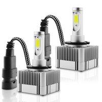 Faros de automóviles 2pcs LED D1S D3S Kit de faros universales 55W Bulb 6000K con piezas de reemplazo de conversión de hid de luz rápida