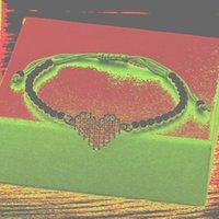 Браслеты очарования романтические пара сердца меди CZ роскошные ручной работы ювелирные изделия регулируемые бусины для женщин мужчин свадебный подарок