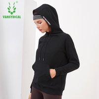 Gym Clothing Vansydical Winter Warm Sports Sweater Hoodies Women's Long Sleeve Outdoor Fitness Running Workout Back Letters Pullovers Tops