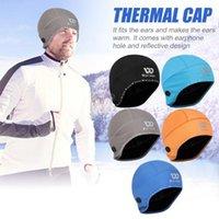 Rüzgar Geçirmez Bisiklet Termal Polar Kap Beanie Koşu Kayak Sürme Yansıtıcı Şapka Fide Bisiklet Koşu Şapka Kapak
