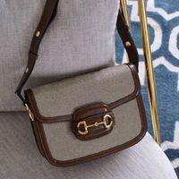 2021 Lady Saddle Bag 1955 Lussurys Designer Doppia Borsa G Doppia Giade Ladies Preferito Hasp Hasp Hasp Handbag Molti colori sono disponibili Borse per body da cross body da donna
