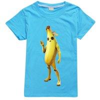 Camiseta verano 100% poliéster fortnita banana hombre gráfico t-shirts niños niños camiseta niños camisetas de niños moda estética para niñas