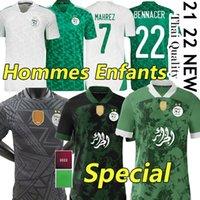Son 2021 Cezayir Hayranları Oyuncu Sürüm Futbol Formaları Özel Eve Uzakta Maillot De Futbol Gömlek Mahrez Brahimi Bennacer 2 Yıldız Cezayir Erkekler Kids Kiti Üniformaları