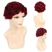 Synthetic Wigs LiangMo Short Finger Wave Wig Pixie For Women Black Blonde Red Golden Brown Pink Cosplay Party