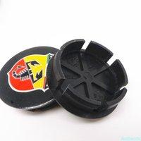 4 stücke 50mm 42mm Rad-Mitte-Kappe Hubs für Fiat Abarth Multipla Punto Scorpion Rays Volk Racing SSR oz Enkei Emblem Abzeichen