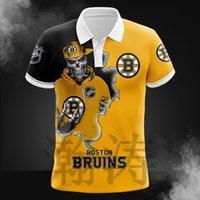 الصيف الرجال فضفاض عارضة NHL الهوكي فريق 3d الرقمية المطبوعة قميص بولو تي شيرت قصيرة الأكمام
