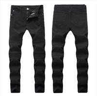 Hombres angustiados Romificado Jeans Moda Motocicleta Biker Jeans Causal Denim Pantalones Tamaño de los EE. UU. 28 ~ 42 Streetwear Style Mens Jeans JS2110