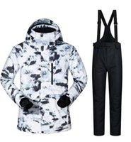 Skiing Jackets Men Snowboard Clothing Trouser Ski Suit Jacket Pant Super Warm Outdoor Sport Wear Male Windproof Waterproof Winter