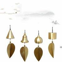 Pure Pure Copper Wind Bell Pendentif Exquis Creative Home Balcon Chambre à coucher Vent Bell Car Pendentif Cadeau Anniversaire Fournitures Fournitures de fête DHA7601